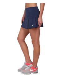 Nike Blue Woven Pleated Skort