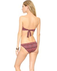 Madewell Twist Front Bikini Top Nouveau Red