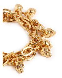 Alexander McQueen - Metallic Skull Chain Bracelet - Lyst