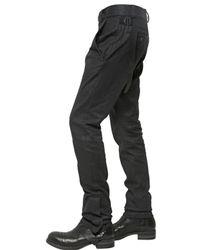 Alexandre Plokhov Black Coated Cotton Blend Denim Biker Trousers for men
