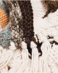 Zara | White Chunky Knit Scarf | Lyst