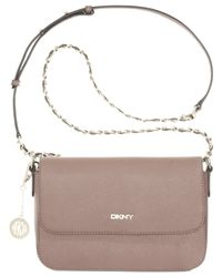 DKNY | Natural Bryant Park Small Flap Crossbody | Lyst