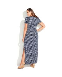Michael Kors Blue Michael Plus Size Shortsleeve Printed Maxi Dress