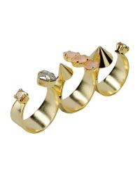 Crezus - Metallic Ring - Lyst