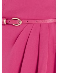Oasis Pink Crepe Pleat Bandeau Dress