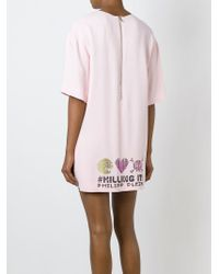 Philipp Plein | Pink '#killing It' T-shirt Dress | Lyst