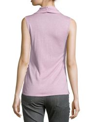Natori - Purple Crisscross Sleeveless Knit Top - Lyst