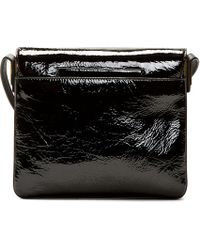 Time's Arrow | Black Patent Leather Sidra Shoulder Bag | Lyst