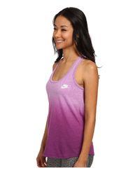 Nike Purple Gym Vintage Tank - Dip Dye