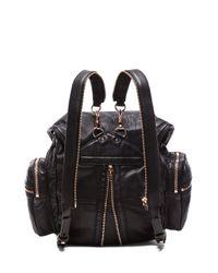 Alexander Wang Black Marti Backpack with Rose Gold Hardware