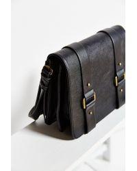 Silence + Noise - Black Buckled-Strap Faux-Leather Shoulder Bag - Lyst