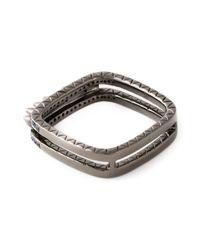 Joelle Jewellery - Black 'Spike' Ring - Lyst