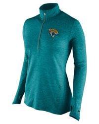 Nike Blue Women's Jacksonville Jaguars Stadium Element Quarter-zip Pullover