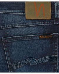 Nudie Jeans Blue Tight Long John Organic Blue Dot Jeans L34 for men