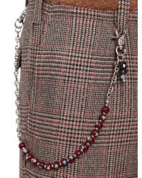 Lardini Brown Murano Glass Beads Pocket Chain for men