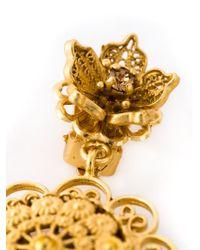 Dolce & Gabbana | Metallic Filigree Clip-On Earrings | Lyst
