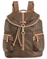 Calvin Klein | Brown Talia Dressy Nylon Backpack | Lyst