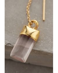 Heather Hawkins   Pink Quartz Sweeper Earrings   Lyst