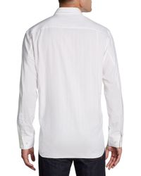 Tommy Bahama - White All in Stitches Tonal Striped Cotton Silk Shirt for Men - Lyst