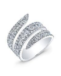 Anne Sisteron | Metallic 18kt White Gold Diamond Serpent Ring | Lyst