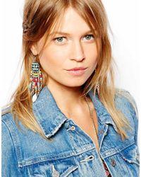 ASOS | Multicolor Western Bead Leaf Earrings | Lyst