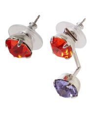 Joomi Lim | Orange Digital Tribe Asymmetrical Swarovski Stud Earrings | Lyst