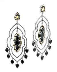 John Hardy | Metallic Batu Dot Morocco Chandelier Earrings Black Onyx | Lyst