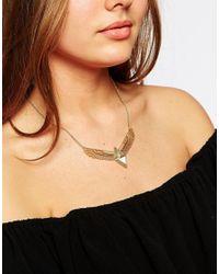 Orelia Metallic Emperess Mini Statement Necklace