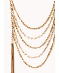 Forever 21 - Metallic Subtle Glam Layered Necklace - Lyst