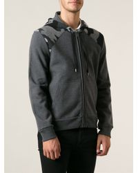Moncler - Gray Camouflage Sweatshirt for Men - Lyst