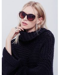 Free People | Brown Womens Forevermore Sunglass | Lyst