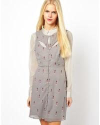 Sugarhill - Gray Lighthouse Dress - Lyst