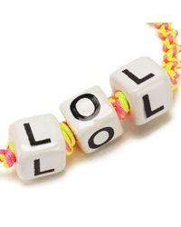 Venessa Arizaga - Pink Women's Lol Bracelet - Lyst