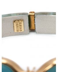 Alexis Bittar Blue Iridescent Bumble Bee Bracelet