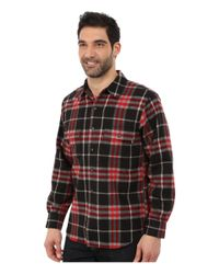 Woolrich - Red Bering Wool Plaid Shirt for Men - Lyst