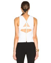 Roland Mouret - White Orca Double Wool Crepe Top - Lyst