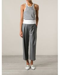 T By Alexander Wang - White Striped Vest Top - Lyst