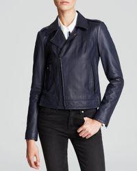 Joie Blue Jacket - Caldine Leather Moto