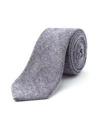 Racing Green - Blue Bedford Herringbone Tie for Men - Lyst