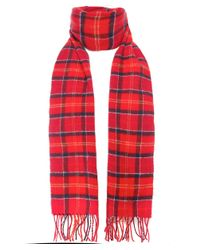 Barbour | Red Classic Tartan Lambswool Scarf for Men | Lyst