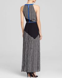 Adrianna Papell Black Gown - Color Block Print Maxi
