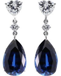 Carat* | Blue Sapphire 5.5ct Pear Drop Earrings | Lyst