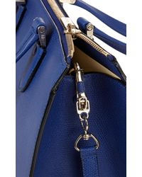 Valextra Blue Mini Babilia Bag