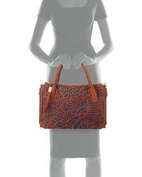 Foley + Corinna - Brown Botanica Cutout Leather Satchel Bag - Lyst