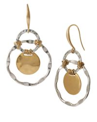 Robert Lee Morris | Metallic Two-tone Orbital Drop Earrings | Lyst