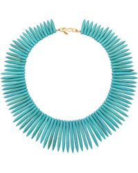 Kenneth Jay Lane - Blue Turquoise Spike Collar Necklace - Lyst