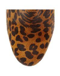 Schutz Multicolor Jeannifer Leopard-print Calf Hair Platform Ankle Boots