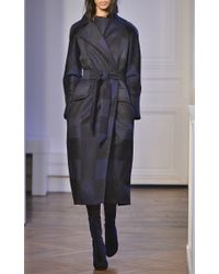 Martin Grant Black Wool Alpaca And Mohair Trench Coat