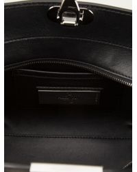 Valentino - Black Rockstud Leather Trapeze Tote - Lyst