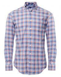 Gant - Orange Millerton Check Shirt for Men - Lyst